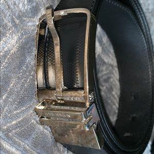 Louis Vuitton Detroit belt Damier infini leather